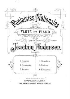 National Fantasias, Op.59: Complete set by Joachim Andersen