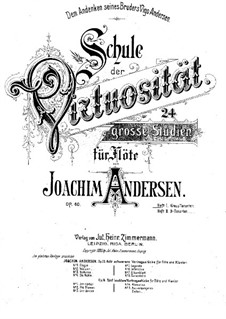 School of Virtuosity, Op.60: Complete set by Joachim Andersen