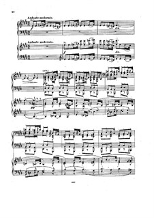 Movement II: Version for two pianos four hands by Johannes Brahms