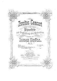 Piano Concerto No.2, Op.24: Movement I, for two pianos four hands by Ignaz Brüll