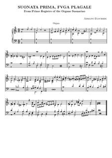 Six Sonatas for Organ: Complete set by Adriano Banchieri