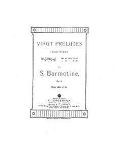 Twenty Preludes for Piano, Op.12: Twenty Preludes for Piano by Semen Barmotin