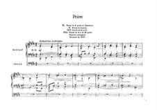 Six Pieces for Grand Organ: Prière, Op.20 by César Franck