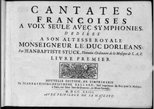 French Cantatas: Book I by Jean-Baptiste Stuck