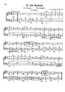 Six Children's Pieces, Op.34: No.2 The Cuckoo by Anton Arensky