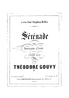 Serenade, for Piano Four Hands, Op.11: Serenade, for Piano Four Hands by Louis Théodore Gouvy
