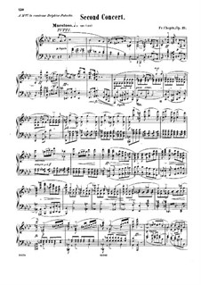 Fragmnets: Movement I. Version for piano by Frédéric Chopin