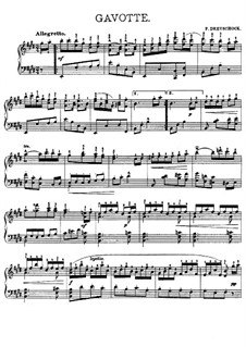 Gavotte for Piano: Gavotte for Piano by Felix Dreyschock