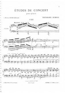 Two Concert Etudes: Etude in E Major by Théodore Dubois