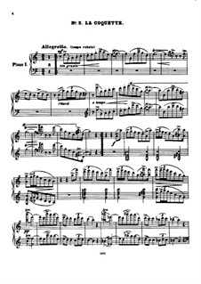 Suite for Two Pianos Four Hands No.2 'Silhouettes', Op.23: No.2 La coquette (The Coquette) by Anton Arensky