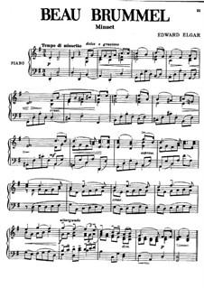 Beau Brummel. Minuet: Beau Brummel. Minuet by Edward Elgar