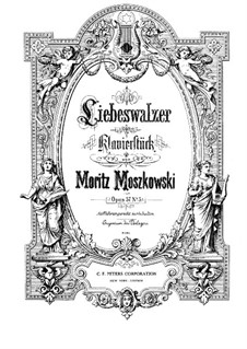 Frühling (Spring), Op.57: No.5 Liebeswalzer (Love Waltz) by Moritz Moszkowski