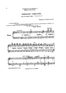 Sylvia: Pizzicati, for piano by Léo Delibes