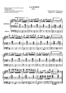 Selected Themes: For organ by Georges Bizet