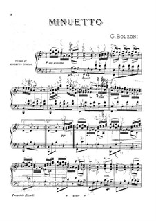 Minuet: For piano by Giovanni Bolzoni