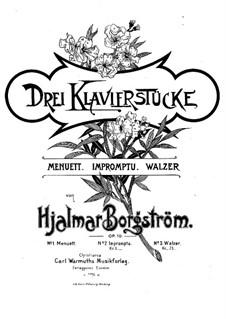 Three Pieces, Op.10: Three Pieces by Hjalmar Borgstrøm