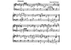 Allemande in B Minor: Allemande in B Minor by Johann Jacob Froberger