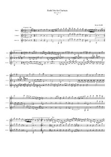 Trio No.6 for Three Clarinets, Op.8 No.3: Movement III by Jacques-Jules Bouffil