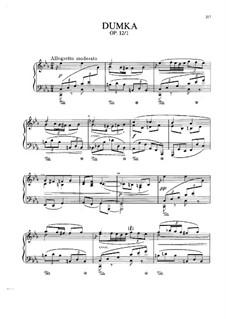 Two Pieces, Op.12: No.1 Dumka, B.136 by Antonín Dvořák