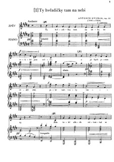 Three Songs, Op.3: Three Songs by Antonín Dvořák