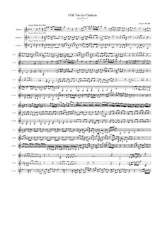 Trio No.5 for Three Clarinets, Op.8 No.2: Movement I by Jacques-Jules Bouffil