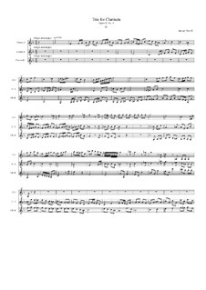 Trio No.6 for Three Clarinets, Op.8 No.3: Movement IV by Jacques-Jules Bouffil
