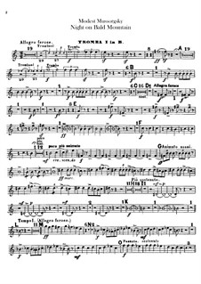 Night on Bald Mountain: Trumpets parts by Modest Mussorgsky