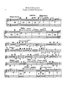 Night on Bald Mountain: Harp part by Modest Mussorgsky