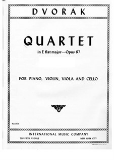 Piano Quartet No.2 in E Flat Major, B.162 Op.87: Movement I by Antonín Dvořák