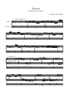 Toccata for Harpsichord and Violin: Score for two performers by Girolamo Frescobaldi