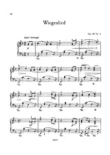 No.4 Cradle Song: For piano (F Major) by Johannes Brahms