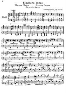 No.1 Furiant: For piano by Antonín Dvořák