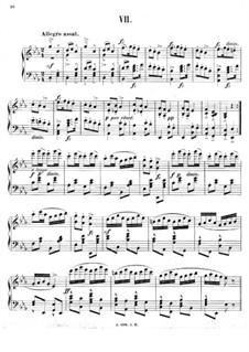 No.7 Skočná: For piano by Antonín Dvořák