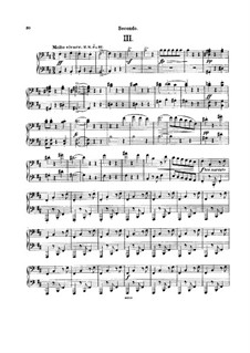 String Quartet No.13 in G Major, B.192 Op.106: Movements III-IV. Version for piano four hands by Antonín Dvořák