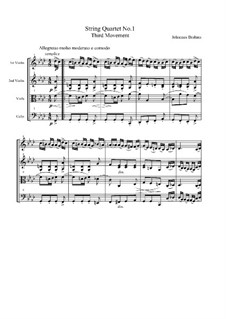 String Quartet No.1 in C Minor, Op.51: Movement III by Johannes Brahms