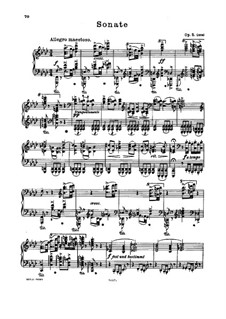 Sonata for Piano No.3 in F Minor, Op.5: For a single performer by Johannes Brahms