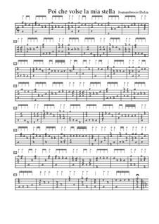 Poi che volse la mia stella, f.53v: Poi che volse la mia stella by Joan Ambrosio Dalza