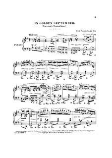 In Golden September, Op.24 No.1: In Golden September by Wesley Octavius Forsyth