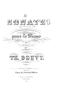 Sonata for Piano No.1 in G Major, Op.17: Sonata for Piano No.1 in G Major by Louis Théodore Gouvy