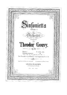 Sinfonietta in D Major, Op.80: Movements I-II, for piano four hands by Louis Théodore Gouvy
