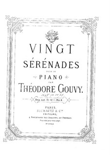 Twenty Serenades for Piano: No.1-7 by Louis Théodore Gouvy