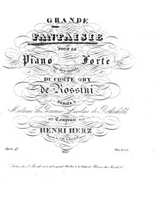 Grand Fantasia on Theme from 'Le comte Ory' by Rossini, Op.47: Grand Fantasia on Theme from 'Le comte Ory' by Rossini by Henri Herz