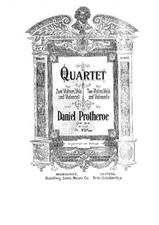 String Quartet in A Minor, Op.52: String Quartet in A Minor by Daniel Protheroe