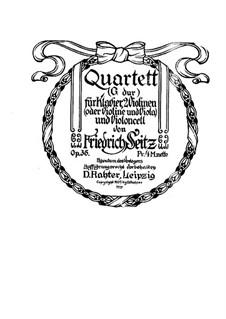 Piano Quartet in G Major, Op.35: Piano Quartet in G Major by Friedrich Seitz