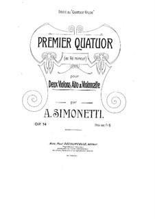 String Quartet No.1 in D Minor, Op.14: String Quartet No.1 in D Minor by Achille Simonetti