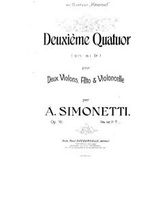 String Quartet No.2 in B Flat Major, Op.16: String Quartet No.2 in B Flat Major by Achille Simonetti