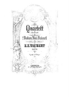 Quartet for Strings in F Sharp Minor, Op.56: Parts by Ernst Eduard Taubert