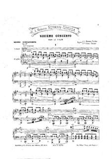 Violin Concerto No.6, Op.47: Score by Henri Vieuxtemps