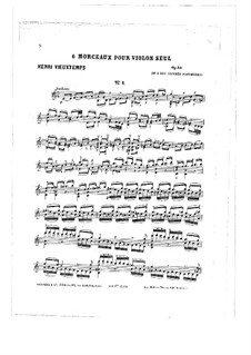 Six Pieces for Violin , Op.55: Six Pieces for Violin  by Henri Vieuxtemps