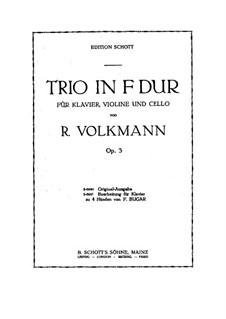 Piano Trio No.1 in F Major, Op.3: Parts by Robert Volkmann